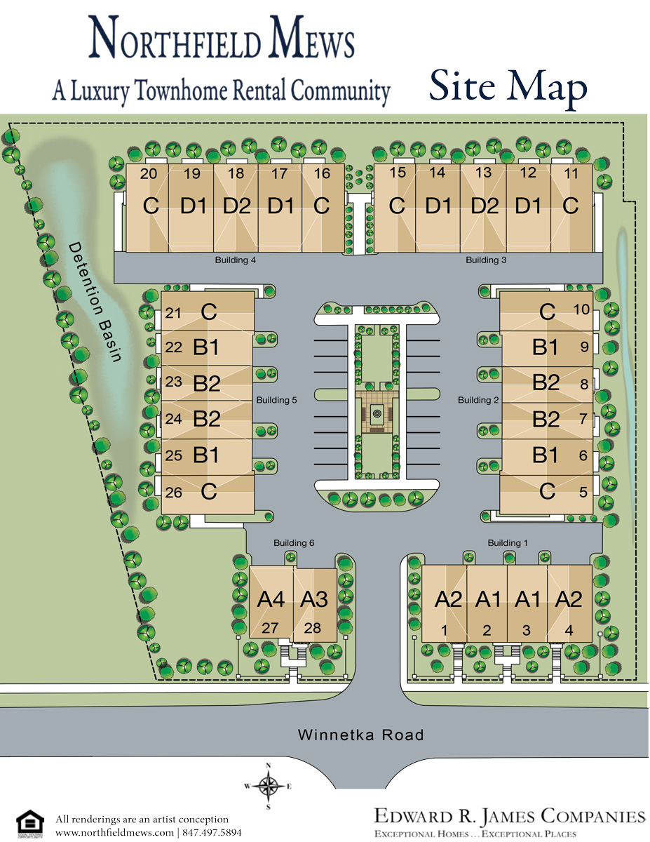 Northfield Mews Site Map